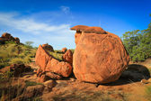 Granite eroded red rock formation, Devils Marbles, Australia — Stock Photo