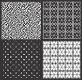 Geometryczne wzory monochromatyczne — Wektor stockowy