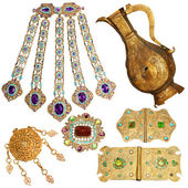 200 year old jewelery set — Stock Photo