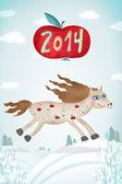 Creative artwork with horse — Stock Photo