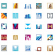 Building icons — Stock Vector #41321921