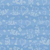 Sea seamless pattern — Stock Vector