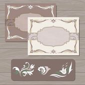 Decorative cards vector template — Stock Vector