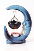 Crescent blue moon aromatherapy — Stock Photo