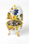 Faberge egg with jewels — Stock Photo