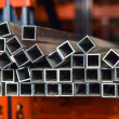Stock Photo: Aluminium pipes