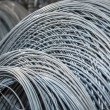 Stock Photo: Stack of galvanized wires