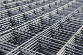 Steel mesh for concrete reinforcement — Stock Photo