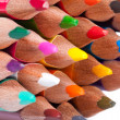 Colorful pencil arrangement — Stock Photo
