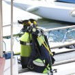 Diving equipment on a boat — Stock Photo #13913742