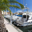 Marina of Gruissan in south France - Stock Photo