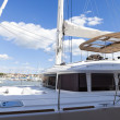 Sundeck on ocean yacht - Stock Photo