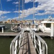 Landing stage in the Marina — Stock Photo