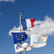 Flagpole of the Marina Gruissan - Stock Photo