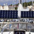Solar module on a sailing boat — Stock Photo
