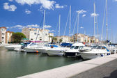 Marina of Gruissan in south France — Stock Photo