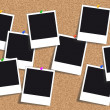 Stock Photo: Cork board - Bulletin board - Pinboard