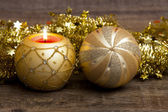 Christmas mood with candle — Stock Photo