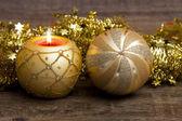 Christmas mood with candle — Stock Photo