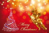 χριστούγεννα ευχετήρια κάρτα - καλά χριστούγεννα — Φωτογραφία Αρχείου