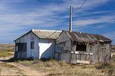 Viejos trabajadores chozas abandonadas — Foto de Stock