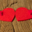 Two large and two small hearts — Stock Photo