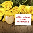 "German words ""Alles Liebe zum Muttertag"" — Stock Photo #18732737"