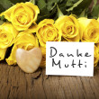 "German words ""Danke Mutti"" — Stock Photo #18732747"