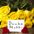 "German words ""Danke Mutti"" — Stock Photo"