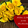 Flowers and a Heart Alles Liebe zum Muttertag — Stock Photo