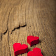 Wooden hearts — Stock Photo #18732781
