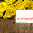 Royalty-Free Stock Photo: Flower and a card Dankeschoen