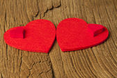 Two large and two small hearts — Stockfoto