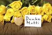 """German words """"Danke Mutti"""" — Foto de Stock"""