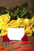 Writable greeting card — Stock Photo