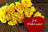 """Flower and a heart """"14. Februar"""" — Stock Photo"""