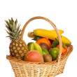 A basket full of fresh fruit — Stock Photo #19486103