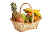 A basket full of fresh fruit — Stock Photo