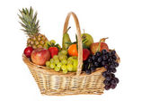 Colorful fruit basket — Stock Photo