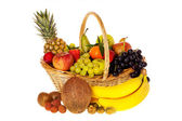 Many fresh fruits — Stock Photo