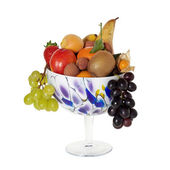 Long stemmed decorative fruit bowl — Stock Photo
