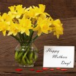 Flowers Greetings for Mother - Stock Photo