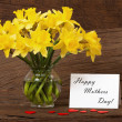 Flowers Greetings for Mother — Stock Photo #20142519