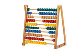 Abacus with wooden balls — Stock Photo