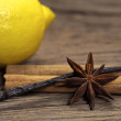 Soothing Spices with lemon — Stock Photo