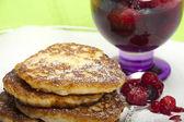 Rice pudding pancake — Stock Photo