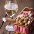Asparagus and Wine — Stock Photo