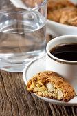 Cantuccini and espresso — Stock Photo
