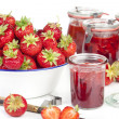 Fresh homemade strawberry jam — Stock Photo #27585007
