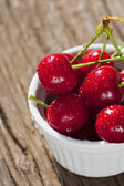 Sour Cherries in a Bowl — Stock Photo